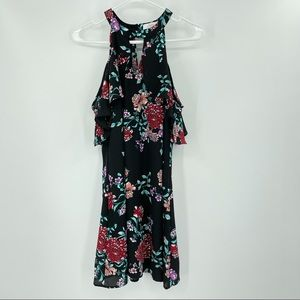 Candie's Cold Shoulder Floral Dress Size Small